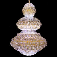 Chinese Crystal Big Chandelier Contemporary LED Color Changing Chandelier