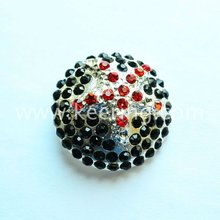 Hot Promotional Ball shaped Colourful Crystal Rhinestone Buttons WBK-1040