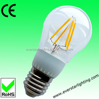 HOT SALE! 4w led filament bulb glass spotlight 360 degree/E27/ led filament bulb/Rohs