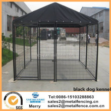 6' high x 5' wide x 10' long black powder coated Modular steel dog kennel