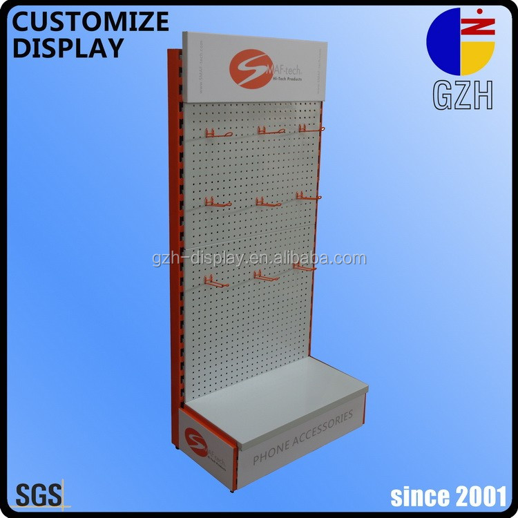 perforated panel hanging hook display stand for computer mobile phone accessories