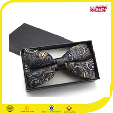 The high quality graceful design red blue and gold skil bow tie size ribbon glow bow tie