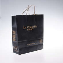 customized small brown 25kg kraft paper shopping gift craft bag with handles paper bags wholesale