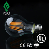 A60 Frosted Glass Lamp Shade North American Hot Product Residential Lighting 8w Led Filament Bulb