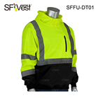 Wholesale Traffic Road Work Wear Construction Security High Visibility Reflective Safety Sweatshirts Fleece Hoodies for Mens