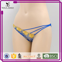 professional lingerie gloden sexy new design young girls transparent g-string panties