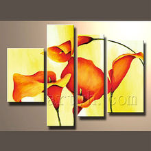 Amazing arts of Beautiful Picture of Flower Oil Painting