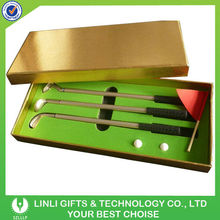 Christmas metal golf gift with customized logo printing on pen and box