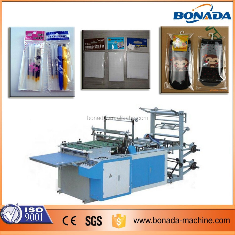 BOPP/OPP/CPP/PP Double side sealing and cutting plastic bag making machine/self adhesive thermal sealing and cutting bag machine