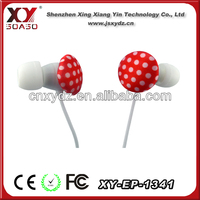 with cable reel for earphone wholesale earphones bulk for mobilephone mp3 Samsung iphone mp3