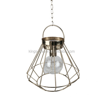 Hanging iron wire candle holder for home decorative