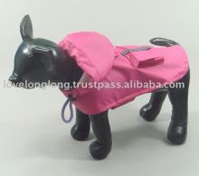 Pet clothes/ dog clothes/ pet coat/ dog coat/ pet raincoat/ dog raincoat/ PU raincoat/ Heavy duty raincoat dust coat Magenta