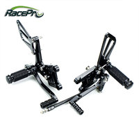 Classic Adjustable Replacement CNC Motorcycle Rearset Foot Pegs Kit for Suzuki GSXR 600/750 2010 2011 2012 2013