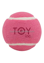 mini 1.5inch pink tennis ball for small dog
