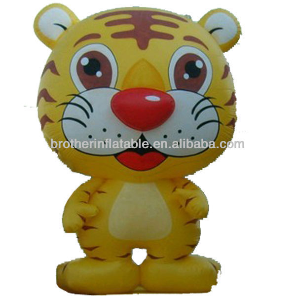 Lovely Tiger Inflatable Cartoon for Promotional