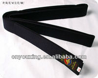 black taekwondo belt with embroidery, championship belts