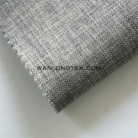the fake linen fabric bonded pongee