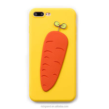 lovely 3D Vegetable carrot Soft case back cover phone case For iphone 7 7plus 6 6plus