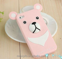 2015 hot selling custom 3d animal shape silicone mobile phone case