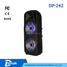 Dual 10 Inch Portable Speaker Dual 15inch Power Amplifiers Professional Audio System With Bluetooth/USB/FM Radio