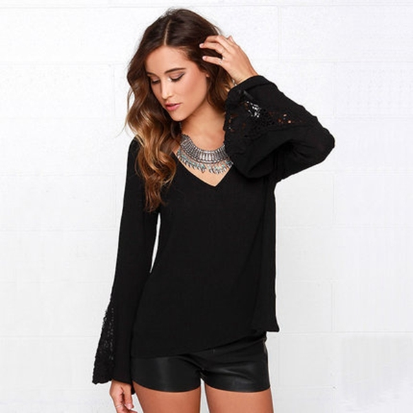 Women's loose long-sleeved T-shirt long section bottoming shirt dress