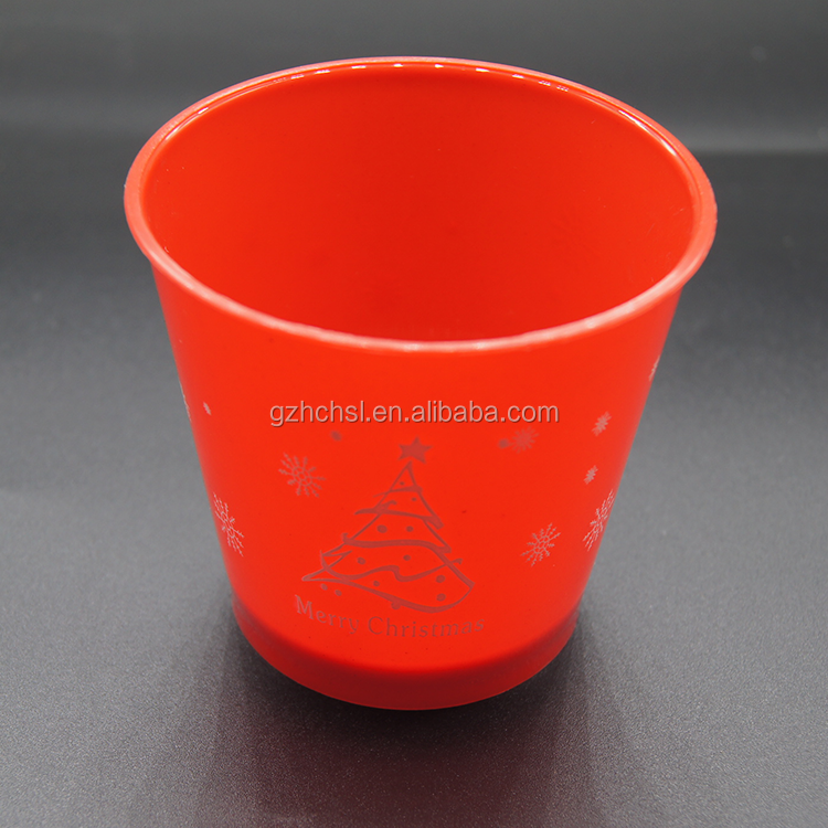 Custom promotion reusable 170ml Christmas printing plastic pudding cup,Plastic Dessert Cups with lids Ice Cream Cups with spoons