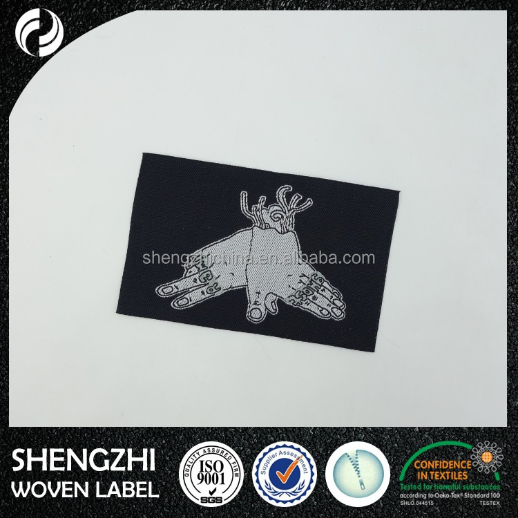 Cheap China Supplier Wholesale centerfold woven label,Custom Woven Label