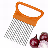 JK16108J Stainless Steel Potato Tomato Onion Slicer Holder with Plastic handle