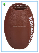 dia.13.4x18.5cmh bulk polyurethane custom printed PU foam football shaped big can holder