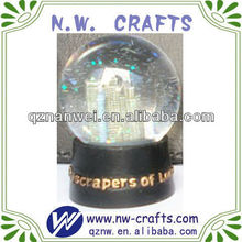 Polyresin building glass snow globe crafts