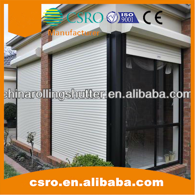 Insulated roller shutter garage door with colorful PU foam slats