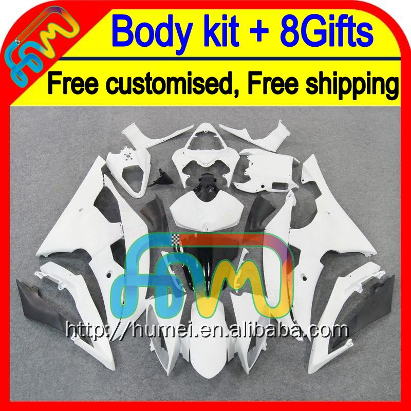 8Gifts For YAMAHA ALL White YZFR6 08 09 10 11 12 YZF-R6 HM050 YZF600 YZF R6 2008 2009 2010 2011 2012 ALL Gloss white Fairings