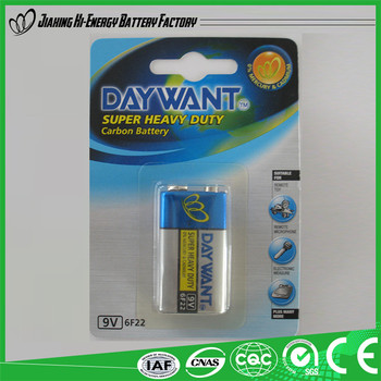 Energy Pro-Environment Low Price Dry Battery Power Plus 6F22 9V Battery