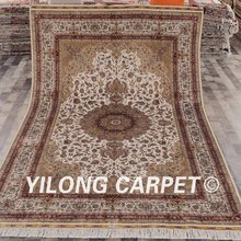 Turkish rugs for sale silk Yilong 6'x9' popular floral turkey design turkish rugs for sale silk