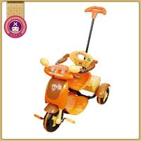 Plastic Material Kids Girls Childs Trike With Parent Handle