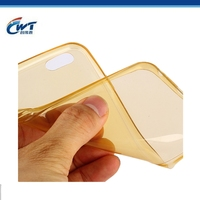 Slim crystal mobile phone cover for tpu iphone 6 case transparent