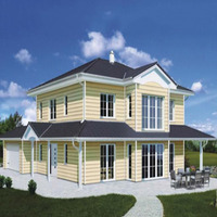 Hot selling light gauge steel frame house,quick assembly prefab house design bungalow,high quality prefab well home
