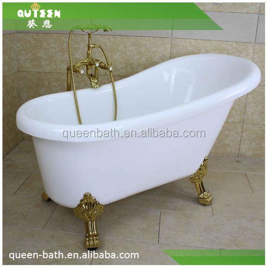 JR B810 Claw Feet Bathtub/ Clear Black Bathtub/ 4 Foot Bathtub