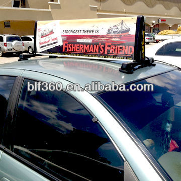 Taxi top advertising signs