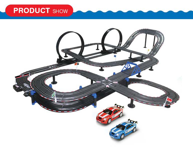 Popular high quality wire control electric 1:43 scale toy race track with race track