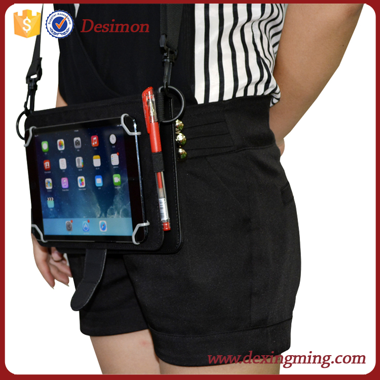 handheld for ipad mini 2 3 4 leather case with shoulder strap neck lanyard