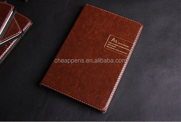 Luxury Agenda Cardboard hard cover PU Leather Journal notebook