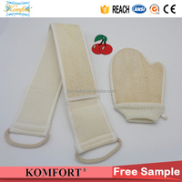 Bath washing Exfoliating glove, Natural loofah wholesale, loofah back scrubber