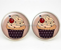 Cupcake Earrings Gift For Her Cake Stud Earrings Kitsch Jewelry Love