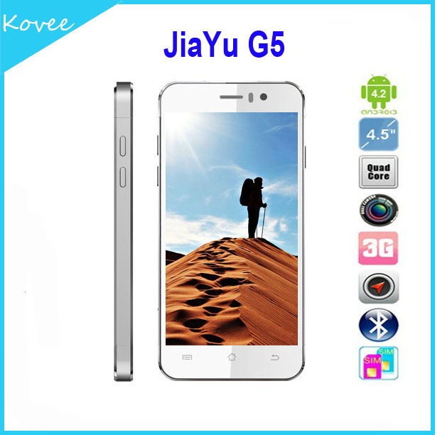 "Jiayu G5 3G WCDMA/GSM Quad Core 4.5"" touch screen 1.5GHz CPU 13MP Camera Android 4.2 Smart Mobile phone(32 GB)"