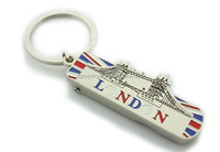 2015 new design England London travail memorial zinc alloy keychains characteristic hot sale custom metal keyrings