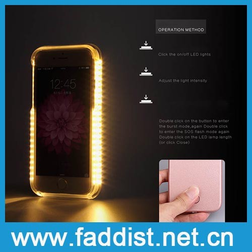 Hot new products for 2016 Slim Luminous led phone case for iphone 6 led case