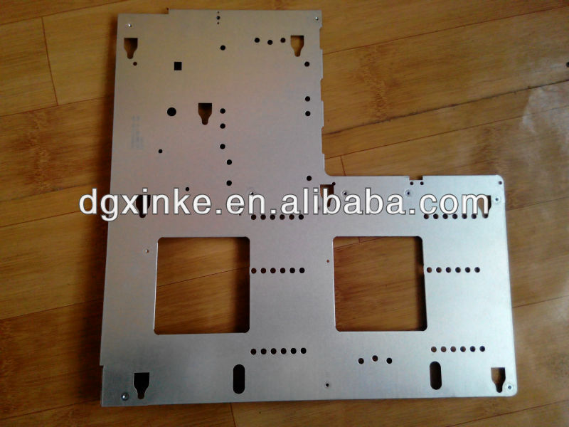 aluminum sheet metal laser cutting combined tapped hole panel cover