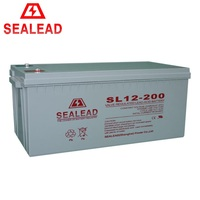 2016 Guangzhou factory promotion 12v 200ah AGM maintenance free sealed lead acid battery for home solar system