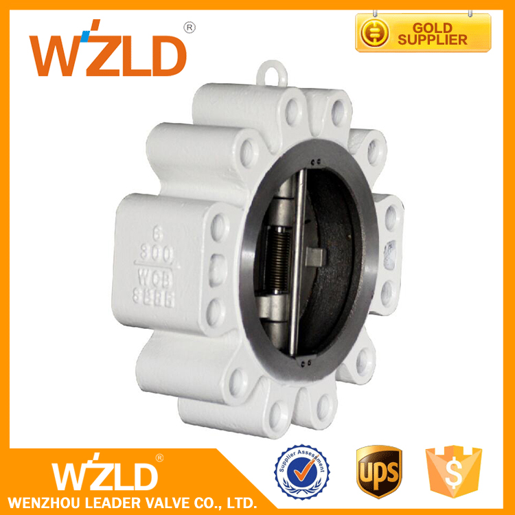 WZLD Manufacturers China supplier cast steel Automatically Solid Lug Type Check Valve price list